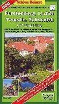 Fürstenberg, Lychen, Templin, Zehdenick und Umgebung Radwander- und Wanderkarte 1 : 50 000