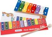 New Classic Toys Gekleurde Metallofoon met Muziekboekje