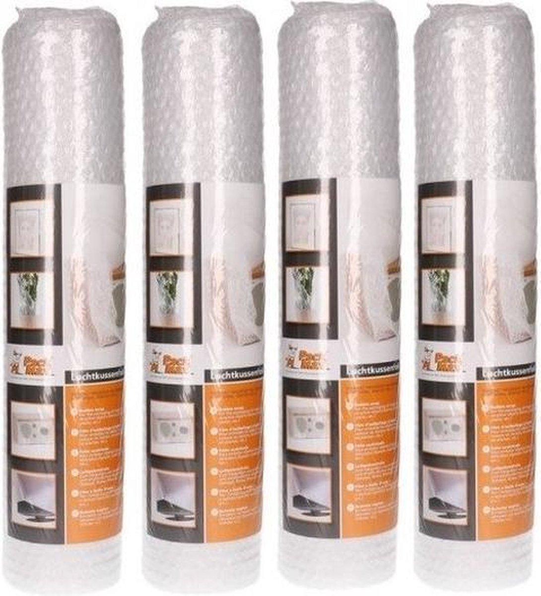 4x Noppenfolie/bubbeltjesfolie op rol 5 meter x 50 cm - Bubbelfolie/bubbeltjesplastic