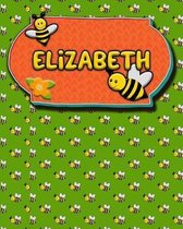 Handwriting Practice 120 Page Honey Bee Book Elizabeth