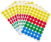 10 VELLEN (540 stickers) Emoticon kinder stickers in verschillende kleuren - Emoji beloningsstickers voor kinderen