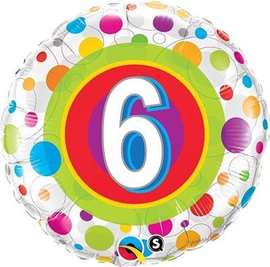 Folieballon met leeftijd 6