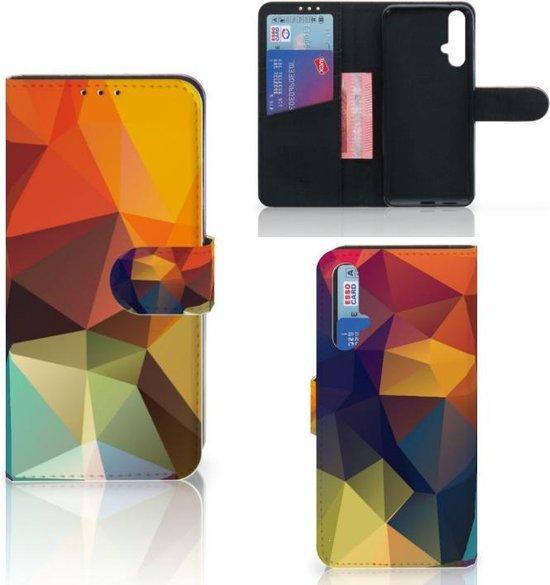 Bookcase Huawei Nova 5T   Honor 20 Polygon Color