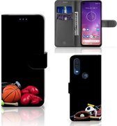 Motorola One Vision Wallet Case met Pasjes Sports