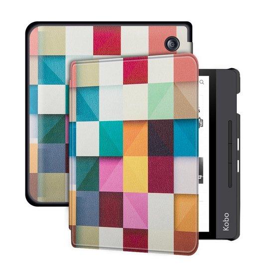 - Luxe PU Leren Sleepcover voor Kobo Libra H2O + Screen Protector & Stylus Pen - Mozaiek