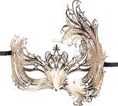 Gouden open Venetiaans masker
