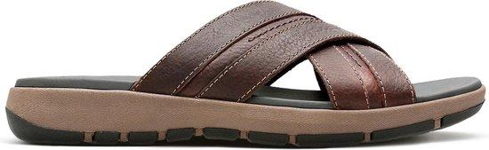 Clarks - Herenschoenen - Brixby Cross - G - dark brown leather - maat 9,5