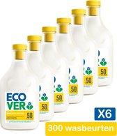 Ecover Wasverzachter - Gardenia & Vanille - Voordeelverpakking 6 x 1,5 l - 300 wasbeurten
