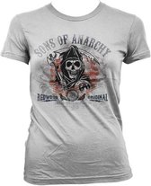 SONS OF ANARCHY - T-Shirt Distressed Flag - GIRL (L)