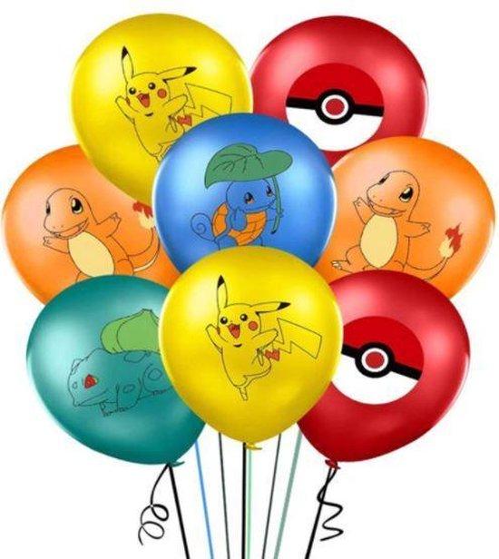 Pokemon ballonnen - 20 stuks - verjaardag - feestje - versiering - ballon - Pikachu - Charmander