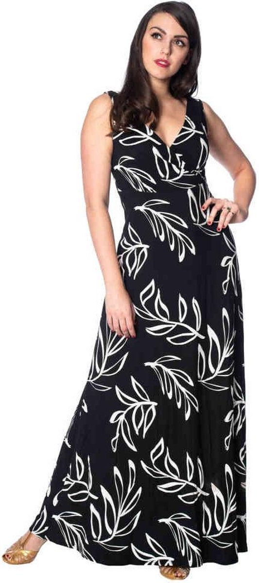 Dancing Days Maxi lange jurk -L- PALM Zwart