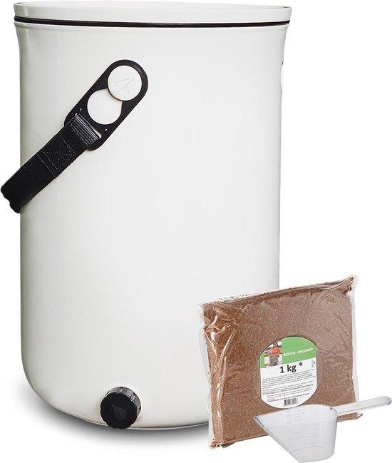 Skaza Bokashi Organko 2 - Prullenbak - Compost - Plastic - Wit - 9.6 L