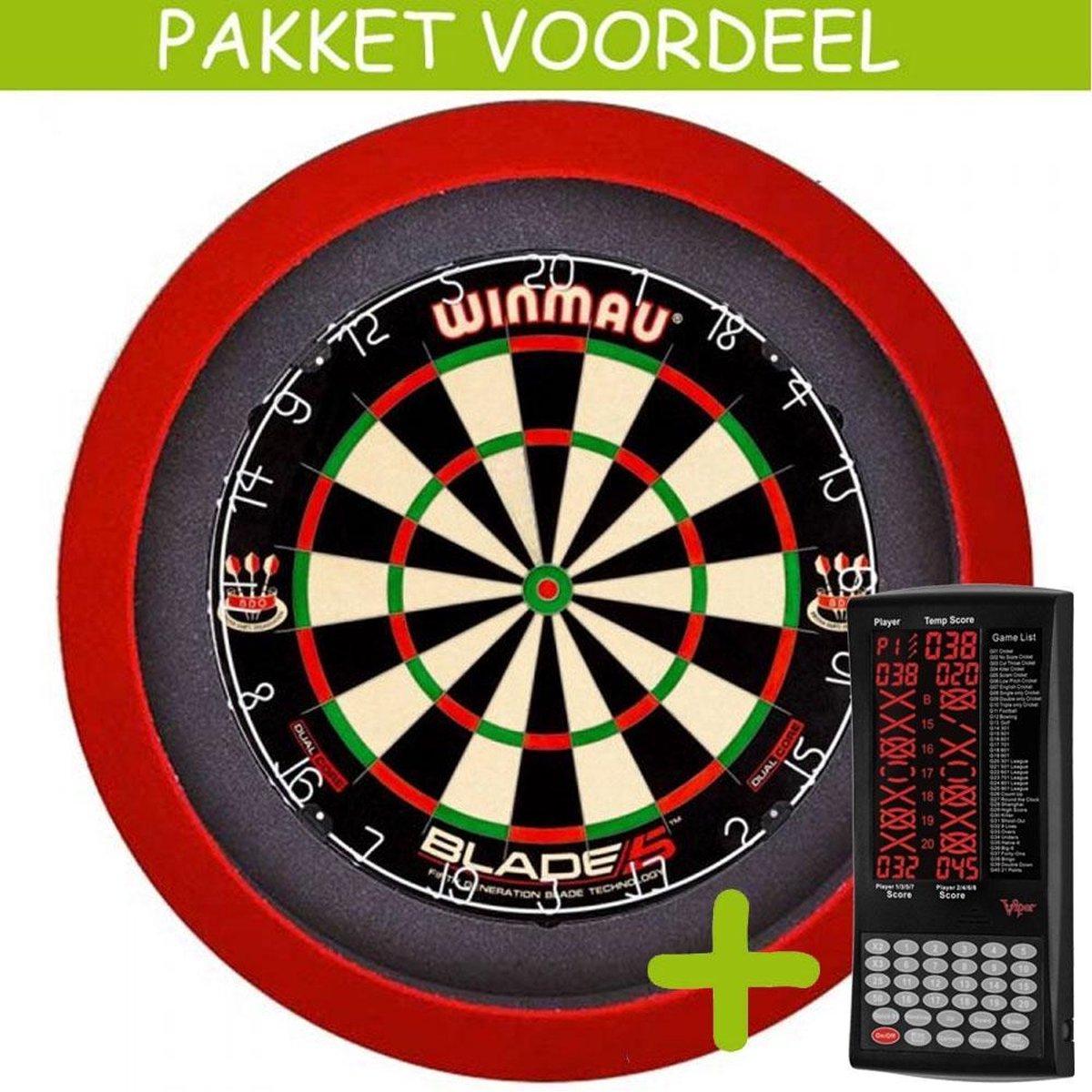 Elektronisch Dart Scorebord VoordeelPakket (Viper ) - Dual Core - Dartbordverlichting Basic (Rood)