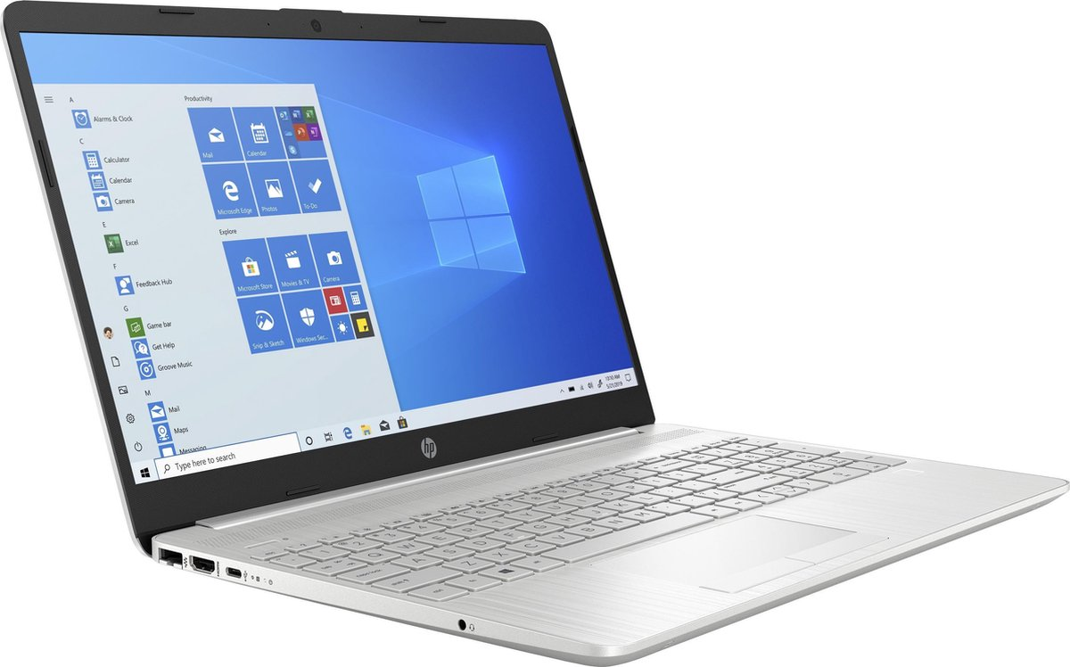 "HP 15-dw1800nd DDR4-SDRAM Notebook 39,6 cm (15.6"") 1920 x 1080 Pixels Intel® 10de generatie Core™ i5 8 GB 256 GB SSD Wi-Fi 5 (802.11ac) Windows 10 Home Zilver"