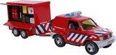 Brandweerauto met aanhanger