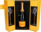 Veuve Clicquot Brut + 2 flutes - 1 x 75 cl - Giftbox