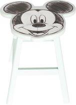 Disney Kruk Mickey Mouse Junior 25 Cm Hout Wit/zwart