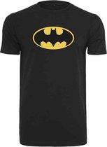 DC Comics Batman Heren Tshirt -S- Batman Logo Zwart