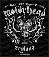 Motorhead Patch Ball & Chain Zwart