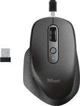 Trust Ozaa - Draadloze muis met USB-dongle - Oplaadbaar - Zwart