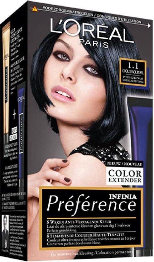zwarte haarverf uitwasbaar