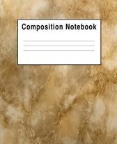 Composition Notebook: Granite Marble Brown