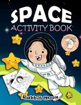 Space Activity Book: for Kids Ages 4-8: A Fun Kid Workbook Game For Learning, Solar System Coloring, Mazes, Word Search and More!