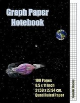 Graph Paper Notebook: (5), Quad Ruled, Grid Paper, 100 Pages (Large, 8.5 x 11)