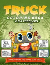 Truck Coloring Book For Toddlers