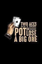 Two aces win a small pot or lose a big one