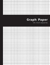 Graph Paper 1/4 Inch Square: (4 Squares per Inch) Quad Ruled - 0.25 inch Graph Composition Notebook