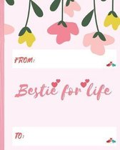 Bestie for life: Friendship goals- Friendship book and diary.