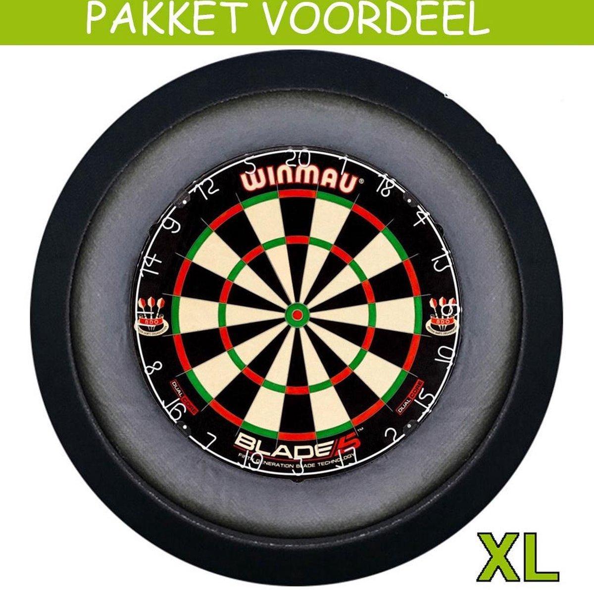 Dartbord Verlichting Voordeelpakket Super Deluxe + Dual Core + Dartbordverlichting Deluxe XL(Zwart)