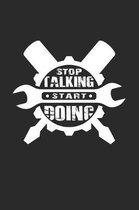 Stop talking start doing: 6x9 DIY - dotgrid - dot grid paper - notebook - notes
