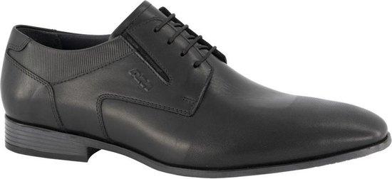 AM shoe Heren Zwarte leren veterschoen - Maat 45