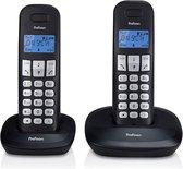 Profoon PDX-1120 Draadloze Dect Telefoon - 2 handposten - Lange standby tijd - Zwart