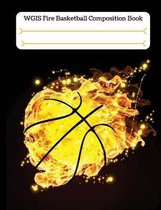 Fire Basketball Composition Book