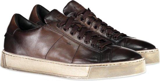 Santoni Sneaker Bruin Bruin  - Maat 43.5 - Heren - Herfst/Winter Collectie - Leer