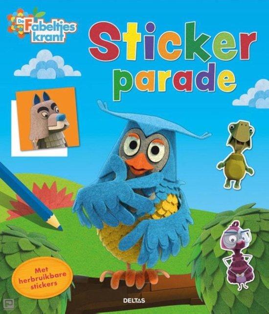 Afbeelding van het spel stickerboek De Fabeltjeskrant junior 24,5 cm papier blauw