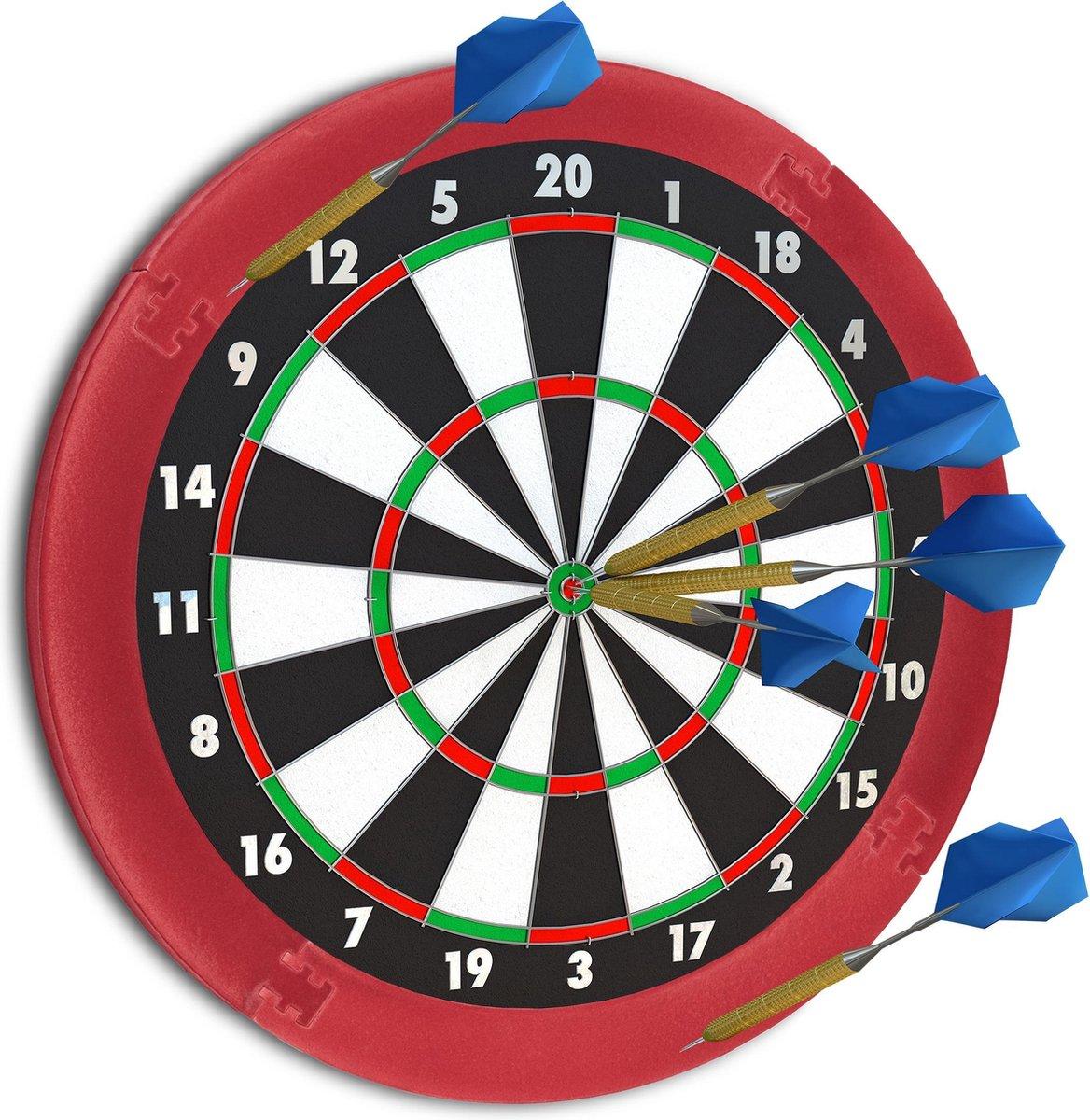 relaxdays dartbord surround ring - beschermrand - beschermring - ring voor dartbord - rond Bordeaux