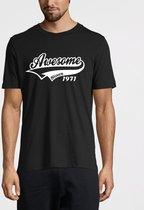 Awesome Since 1971 Maat S - Verjaardag Birthday Kado Cadeau voor hem en haar man vrouw Vintage T-Shirt Shirt Kleding Zwart 2.0