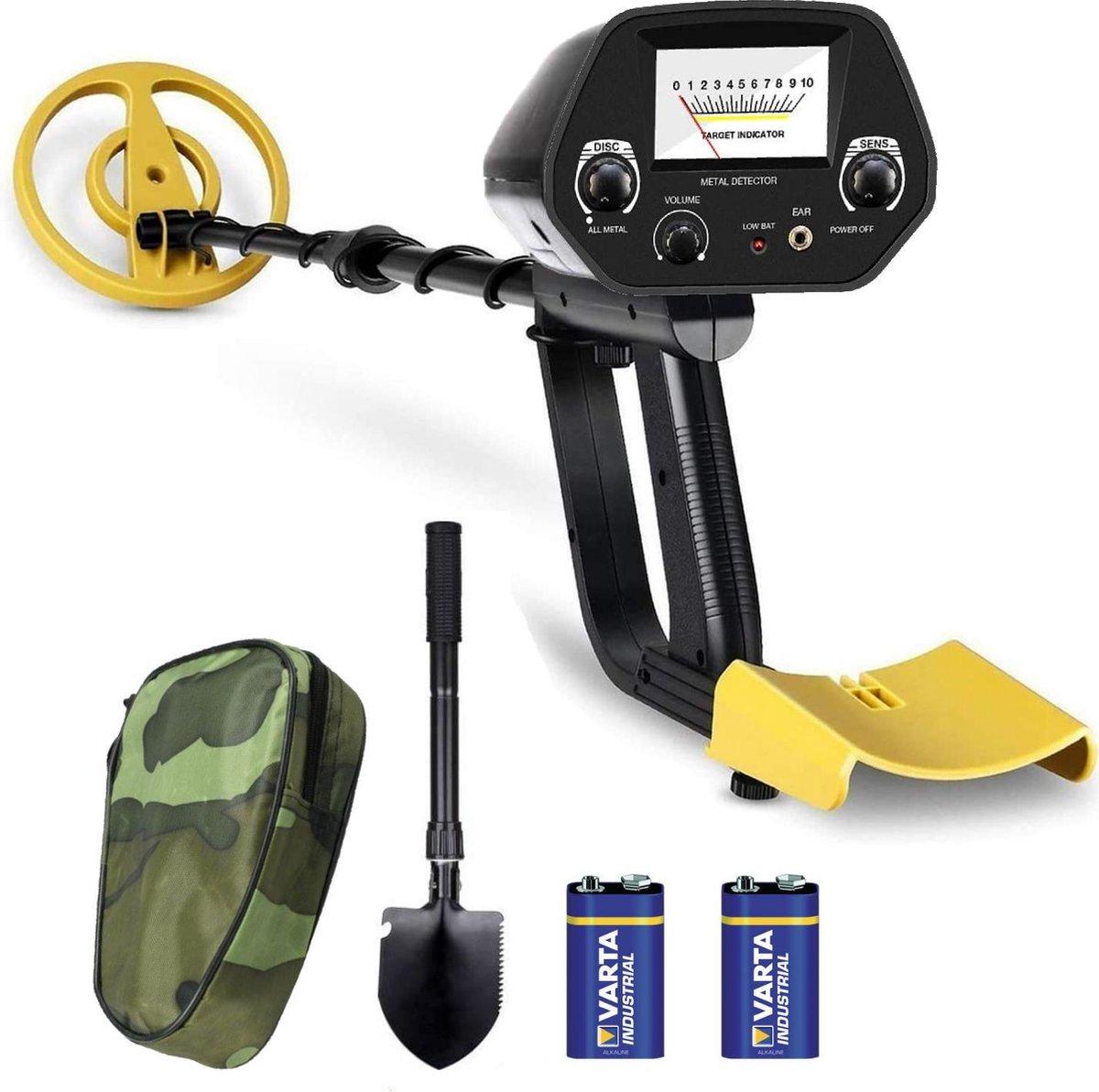 DETECT-IT Metaaldetector - Voor kinderen en volwassenen - Verstelbare hoogte - Incl. Batterijen en S