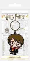 Sleutelhanger - Harry Potter: Chibi - rubber - metalen ring