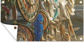 Dromenvangers van een indiaan tuinposter 80x40 cm - klein - Tuindoek / Buitencanvas / Schilderijen voor buiten (tuin decoratie)