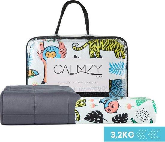 Calmzy Kids Verzwaringsdeken Bundel 3,2 kg - Happy Jungle - Verzwaringsdeken & Duvet Cover - 100 x 150 cm