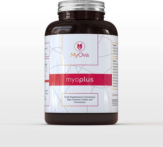 MyOva myoplus 4000 mg Myo-Inositol + foliumzuur - en chroom supplement - 120 capsules - PCOS