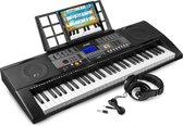 Keyboard - MAX KB3 keyboard piano met o.a. 61 aanslaggevoelige toetsen, USB mp3 speler en hoofdtelefoon