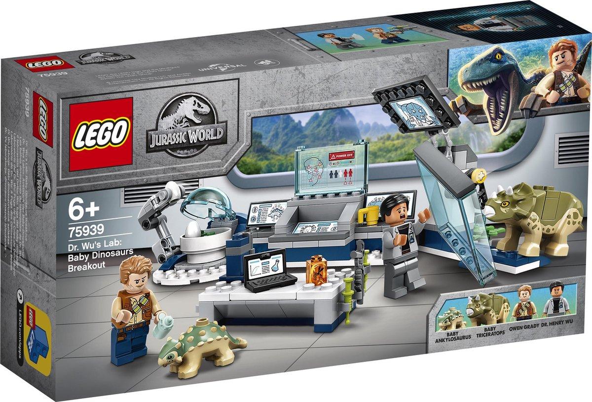 LEGO Jurassic World Dr Wu's Laboratorium: Ontsnapping van de Babydinosaurussen - 75939
