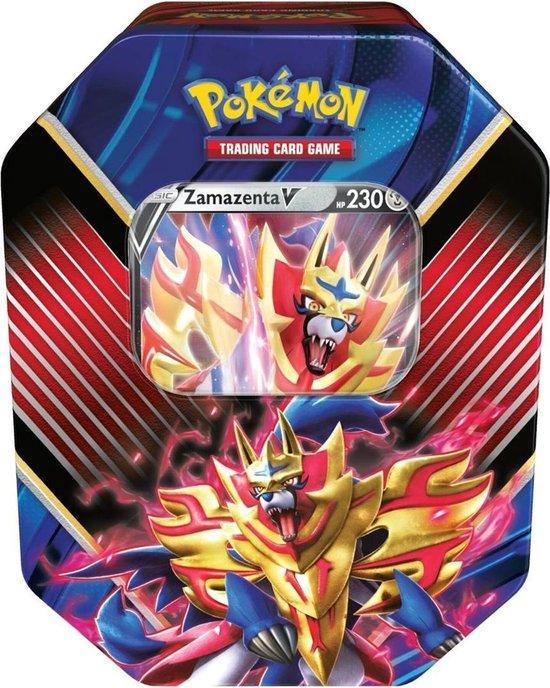 Afbeelding van het spel 1 x Pokémon Verzamelblik Sword & Shield: Tcg Legends Of Galar Tin Zamazenta V - 1 TIN