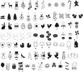 A Little Lovely Company - Symbolen set voor de Lightbox - Set van 85